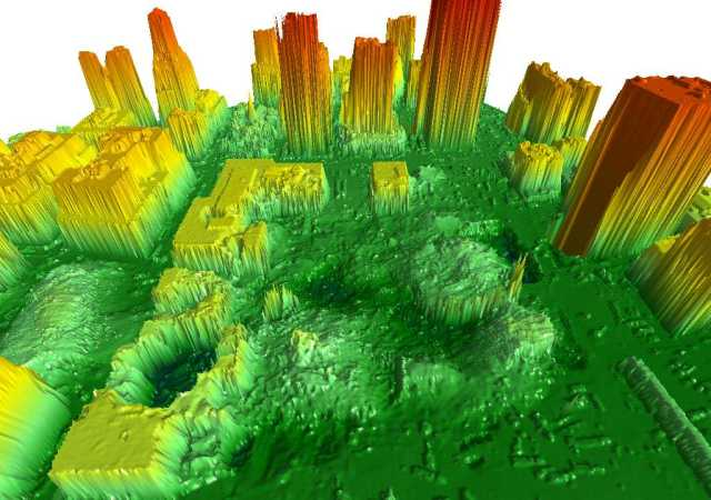 LIDAR image of Ground Zero, 9/16/2001
