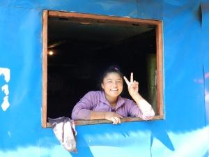 Nepali girl, mountain village