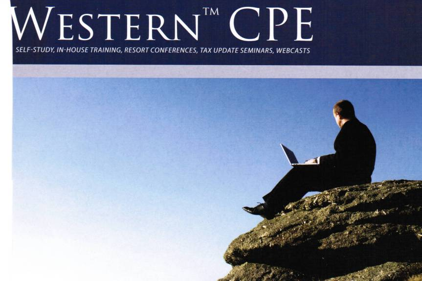 This is not The Onion - it is a cover from a catalog of courses for accountants put out by a firm in Bozeman.