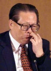 Jiang Zemin, former Chinese president, in unflattering photo used to advance narrative here