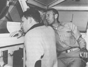 Jim Morrison with his dad, Admiral George Stephen Morrison, who commanded the fleet in the Gulf Of Tonkin in 1964.