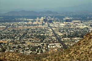 Phoenix, viewed from the hills of South Mointain Park , looking north.