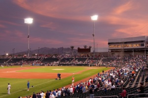 Goodyear Stadium, spring training home of Reds and Indians.