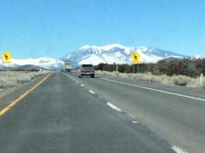 San Francisco Peaks, iPad photo taken yesterday en route to Flagstaff.