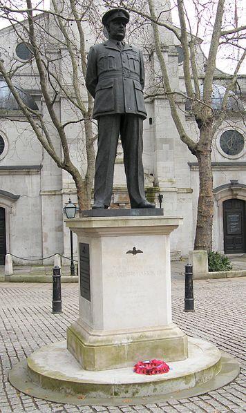 "Sir Arthur ""Bomber"" Harris gets a statue. Dresden looks on in wonderment."