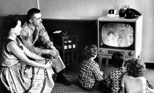 Family-watching-Black-and-White-TV