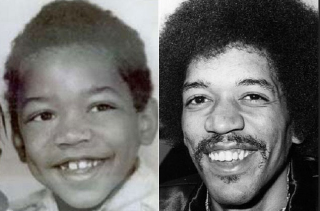 Hendrix as a boy and adult