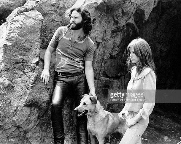 Courson with Jim Morrison