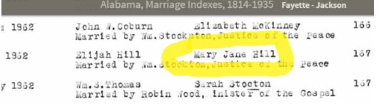 Alabama Marriage Indexes