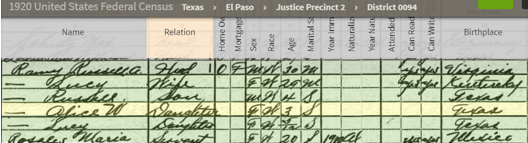 Federal Census 1920