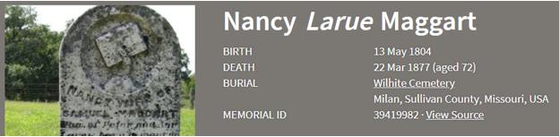 Nancy LaRue Maggart