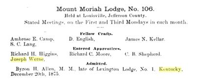1 Mount Moriah Lodge