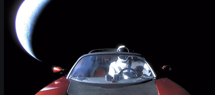 Car in space