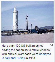 Missile aimed at USSR
