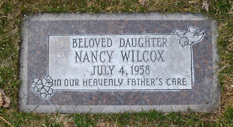 Wilcox gravestone